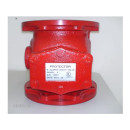 Descrição: Vávula de Alarme e Governo de 6″. Corpo em ferro fundido pintado na cor vermelha. Certificação UL. | Modelo: SK-VGA6
