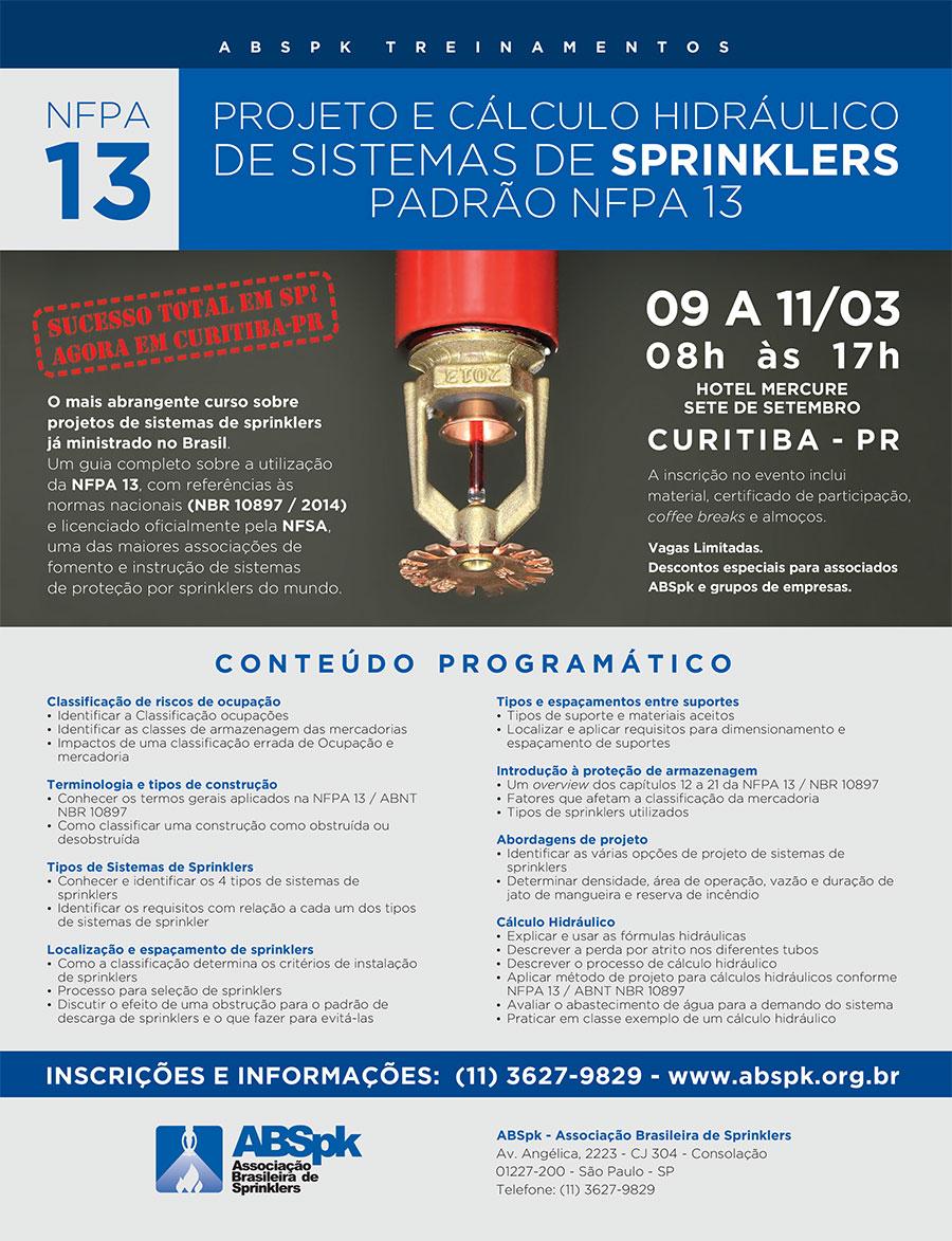 Evento ABSPK: NFPA 13