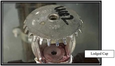 Constatacao de alojamento em sprinkler nao certificado