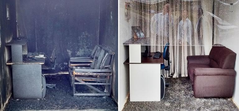 Ensaios Side-by-Side Burn Comprovam Eficiência dos Sprinklers