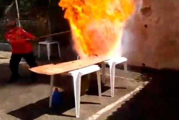 Você sabe o risco que corre ao jogar um copo d'agua numa panela em chamas?