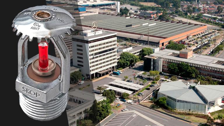 SKOP fornece sprinklers modelo B-11 para a planta Sao Bernardo do Campo da Mercedes-Benz do Brasil