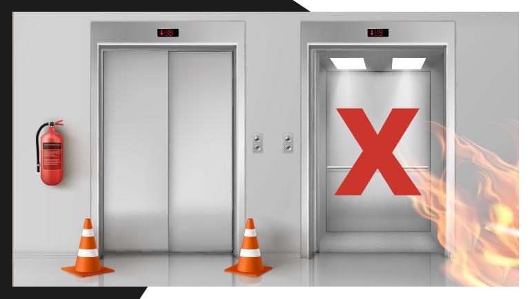 Por que evitar os elevadores durante um incêndio
