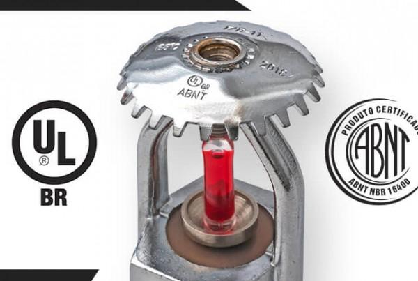 certificações ULbr ABNT fabricação de sprinklers