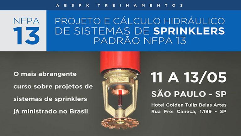 Projeto e Cálculo Hidráulico de Sistemas de Sprinklers Padrão NFPA 13