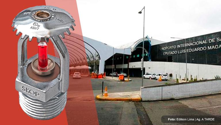 Aeroporto de Salvador conta com sprinklers RTR da SKOP
