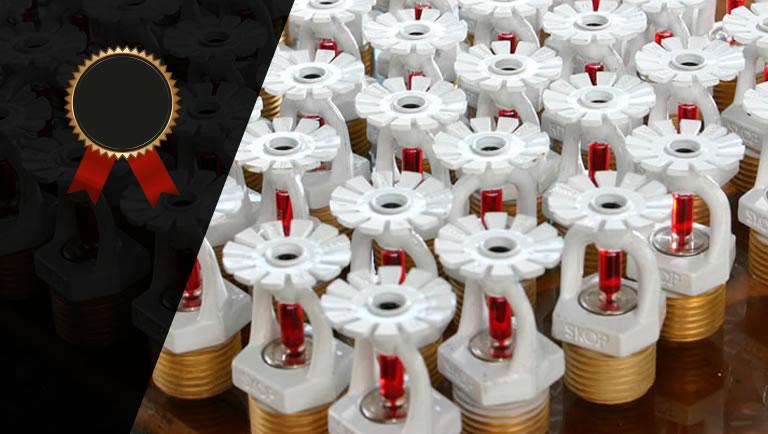 Como reconhecer sprinklers certificados e nao certificados